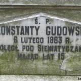 Grób Konstantego Gudowskiego.