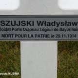Aubérive. Grób legionisty-bajończyka Władysława Szuyskiego.