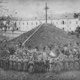 Pogrzeb żołnierzy 57 pp (3 p.strz.wlkp.) w 1919/1920.