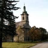Łąki. Opuszczony kościół pw. Św. Barbary.