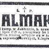 Nekrolog szer. Tadeusza Almakiewicza.