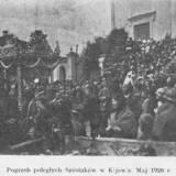 Pogrzeb żołnierzy 6 pułku piechoty Legionów.