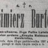 """Nekrolog z """"Kuriera Warszawskiego"""""""